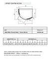 Infinite 1000 x 810mm Left Handed Curved Center Access Slider Door - Thumb Image 2