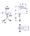 Crosswater Essence Monobloc Bath Filler Tap - ES310DC - Thumb Image 2