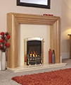 Caress Traditional HE Slide Control Inset Gas Fire Brass - FHEC41SN - Thumb Image 1
