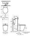 Ideal Standard Concept Back-To-Wall WC Pan 550mm - E791601 - Thumb Image 2