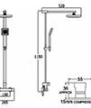 Deva Savvi Thermostatic Bar Shower With Rigid Riser Kit And Diverter - Thumb Image 2
